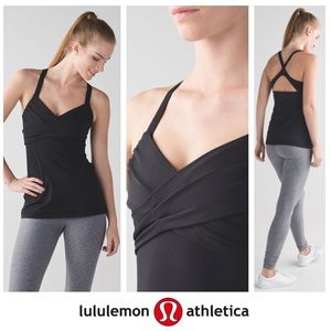 Lululemon Black Racerback Built in Bra Tank